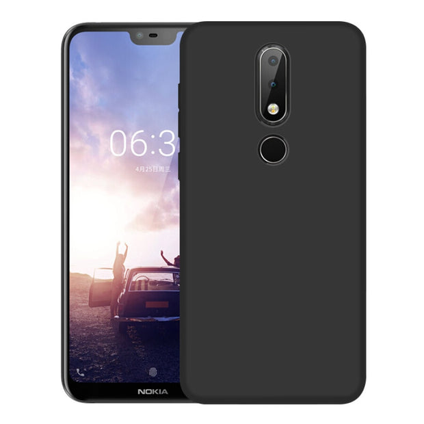 Ultra Thin Soft Silicone Phone Cases For Nokia X6 X5 6 2018 2 5 3 7 Plus 8 9 2.1 3.1 5.1 6.1 Cover Soft Black Matte TPU Case