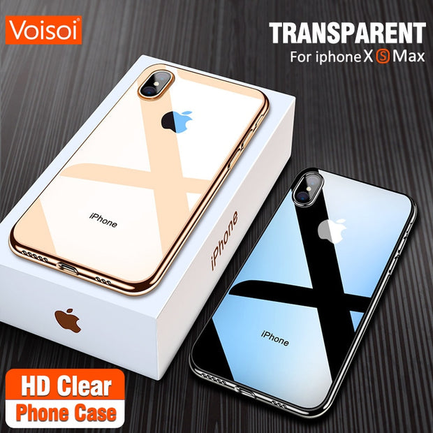 Ultra Thin Transparent Case For Apple IPhone XS Max XR X 10 Cases Clear Soft TPU Cover For IPhone XR XS Max X Phone Case Capa