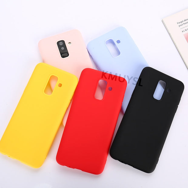 Ultrathin Candy Color Case For Samsung Galaxy S10 Lite S8 S9 J4 J6 J8 A6 A8 Plus J3 J5 J7 A3 A5 A7 2017 A9 2018 S7edge Soft Case
