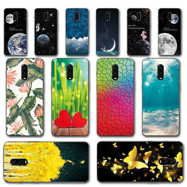 Unique Rose Flower Painted Phone Case For Oneplus 6T 1+6T Silicone Back  Cover For One Plus 6T Cases Capa A6010 6 4
