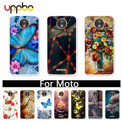 Uppbo Painted Case For Motorola Moto G5S Case G6 G5 E4 C Plus Z2 Z G4 Play X Force X4 2017 G3 G2 E2 Case Coque Fundas Back Cover