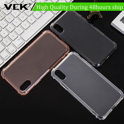 VCK Anti-knock Case For OnePlus 6 Plus 1+ Phone Case Silicone TPU Transparent Clear Cover Full Protective