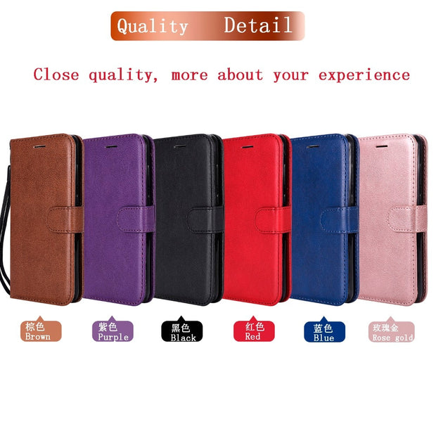 VCK For Huawei P8 P9 P10 P20 Y6 6A Pro Mate 7 8 9 10 Honor 6X 6C 5A Lite 2017 Vintage Leather Wallet Phone Case Soft TPU Cover