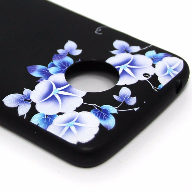 VCK For Motorola Moto G5 / G5 Plus Soft TPU 3D Relief Painting Phone Case Cover