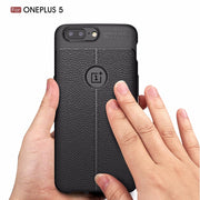 VCK Luxury Litchi Pattern Phone Case For OnePlus 5 Fives Cases Silicone Phone Case Soft TPU Back Cover Coque