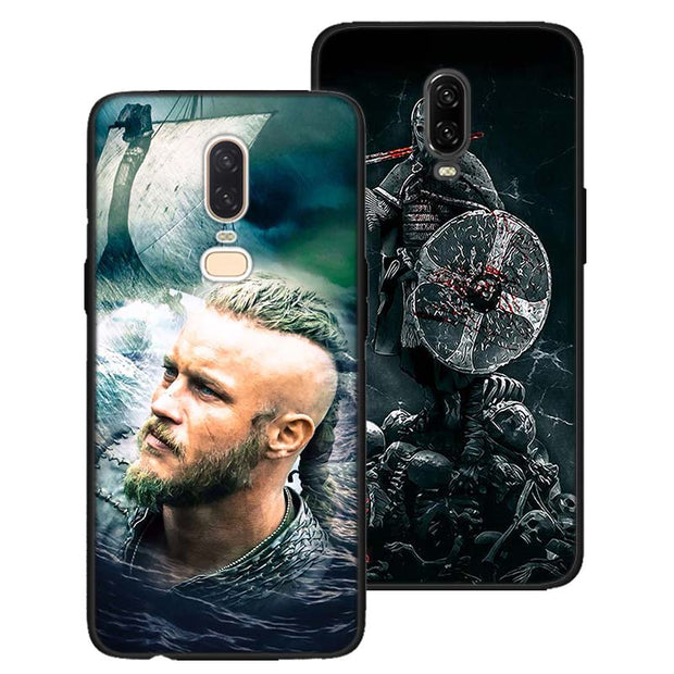 Vikings TV Show Black Soft Silicone Cases Cover For Oneplus 6 6T 5T Rubber TPU Back Phone Case