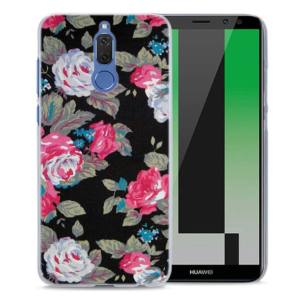 entire collection incredible prices new images of Villa Flora Pink Rose Pattern Transparent Phone Cover Fundas ...
