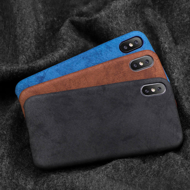Vintage Style Denim Texture Phone Case For IPhone X XR XS Max Case Full Protect Luxury Back Cover For IPhone XS Max Case