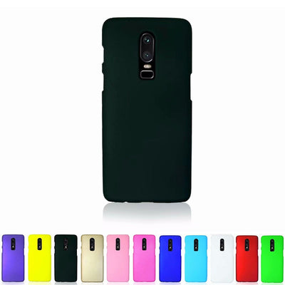 Vonada PC Hard Case Colorful Matte Slim Plastic Shell Rubber Hard Mobile Phone Back Cover For Oneplus 6 1+6