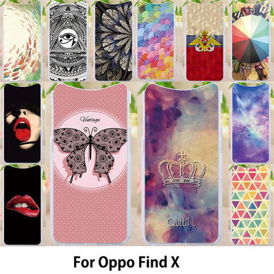 Walcox Patterned Soft Case For Oppo Find X Case Coque Antil-knock Cover For Oppo Find X Silicone Bag Housing Find X
