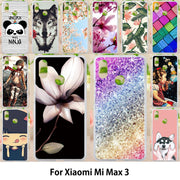 Walcox Patterned Soft Case For Xiaomi Mi Max 3 Case Antil-knock Cover For Xiaomi Mi Max 3 Silicone Bag Housing Glitter