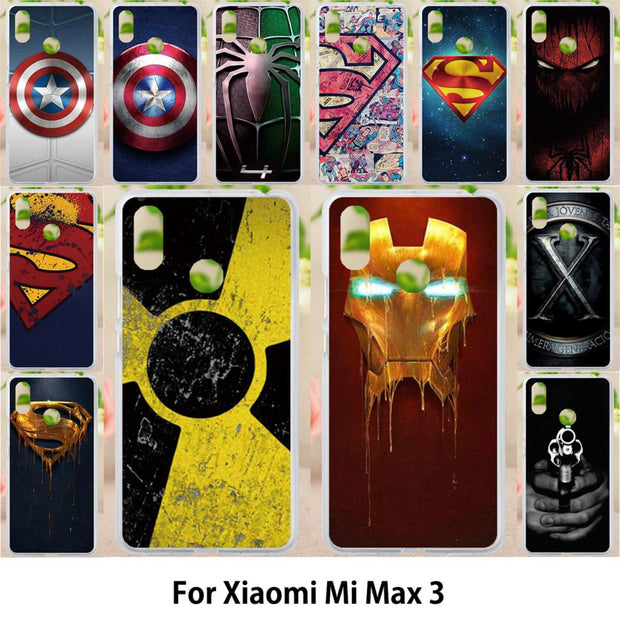 Walcox Patterned Soft Case For Xiaomi Mi Max 3 Case Antil-knock Cover For Xiaomi Mi Max 3 Silicone Bag Housings Super