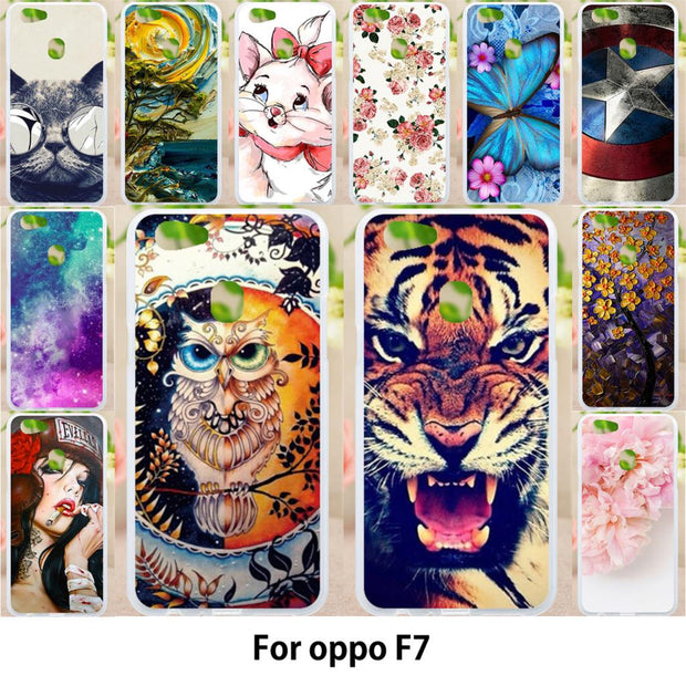 Walcox Soft Case For OPPO F7 Case Antil-knock Cover Skin For OPPO F7 Silicone Bag Housing For OPPO F7 Covers