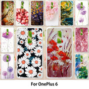 Walcox Soft Case For OnePlus 6 Case Antil-knock Cover Skin For OnePlus 6 Silicone Bag Housing Flowers