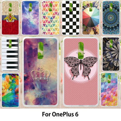 Walcox Soft Case For OnePlus 6 Case Antil-knock Cover Skin For OnePlus 6 Silicone Bag Housing Butterfly