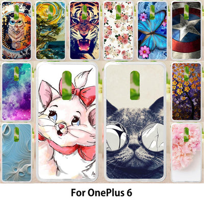 Walcox Soft Case For OnePlus 6 Case Antil-knock Cover Skin For OnePlus 6 Silicone Bag Housing For OnePlus 6 Cover
