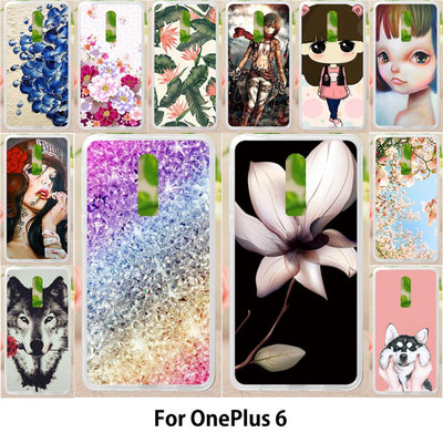 Walcox Soft Case For OnePlus 6 Case Antil-knock Cover Skin For OnePlus 6 Silicone Bag Housing Colorful