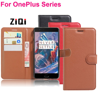 Wallet Oneplus 5T 5 3 3T Cases PU Leather Case Flip With Stand Photo Card Fundas One Plus Three Two 1+5T 2 5 Cover Phone Bag
