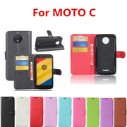 Wallet Style PU Leather Back Cover For Motorola Moto C 2017 Phone Bag Case With Stand Function For Motorola Moto C Case 5.0inch