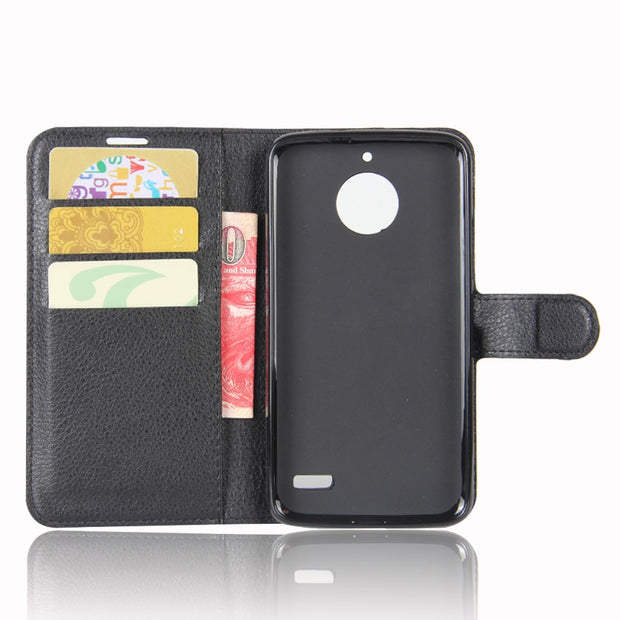 Wallet Style PU Leather Cover For Motorola Moto E4 XT1762 Phone Bag Case With Stand For Motorola Moto E (4th Gen.) Case 5.0inch