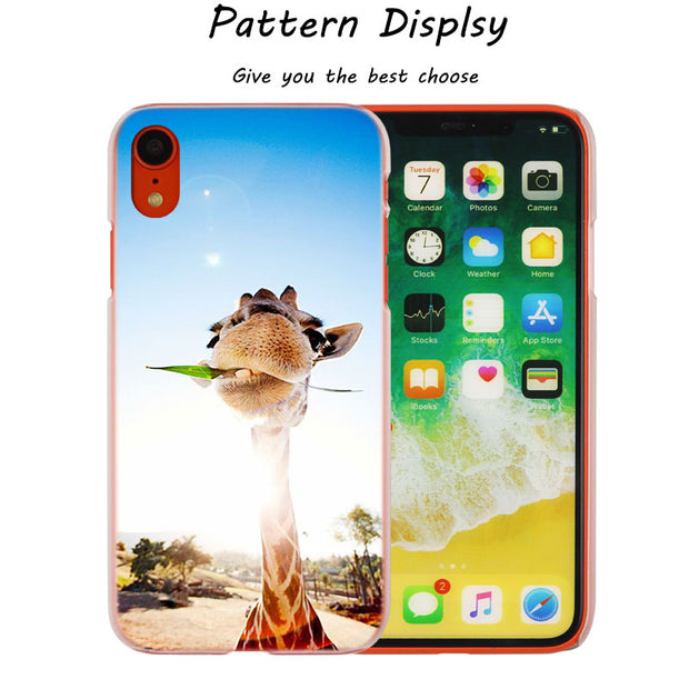Watercolor Giraffe Painting Hot Fashion Transparent Hard Phone Cover Case For IPhone X XS Max XR 8 7 6 6s Plus 5 SE 5C 4 4S