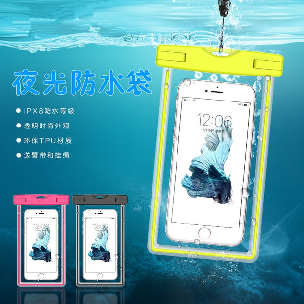 Waterproof Bag With Luminous Underwater Pouch Phone Case For Moto Z Play/Moto Z2 Play/Moto X Force/Moto G5/plus/G3/G4/G4plus X2