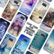 Winter In Central Park Animated Winter Clear Case Cover Coque Shell For Samsung Galaxy S3 S4 S5 Mini S6 S7 Edge Plus