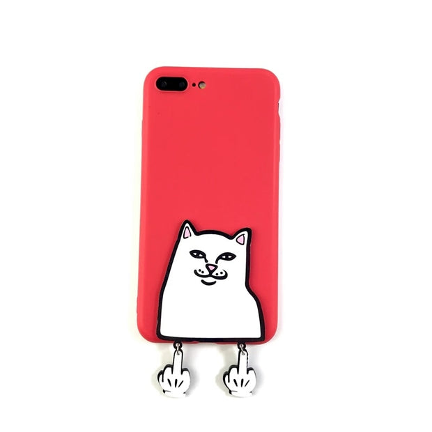 XINGYUANKE 3D Case For OPPO F3 Case Cute Cartoon Middle Finger Cat Coque For OPPO A77 Case Soft Silicone Slim Cover Capa
