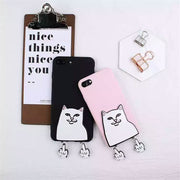 XINGYUANKE 3D Case For OPPO F3 Plus Case Cute Cartoon Middle Finger Cat Coque For OPPO F1 Plus Case Soft Silicone Slim Cover