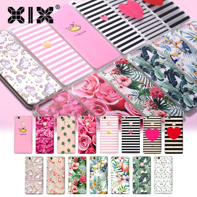 XIX Lifestyle For Huawei P10 Plus Case Pink Flowers Soft TPU Cover For Fundas Huawei P10 Plus 2017 New Arrivals For P10 Plus