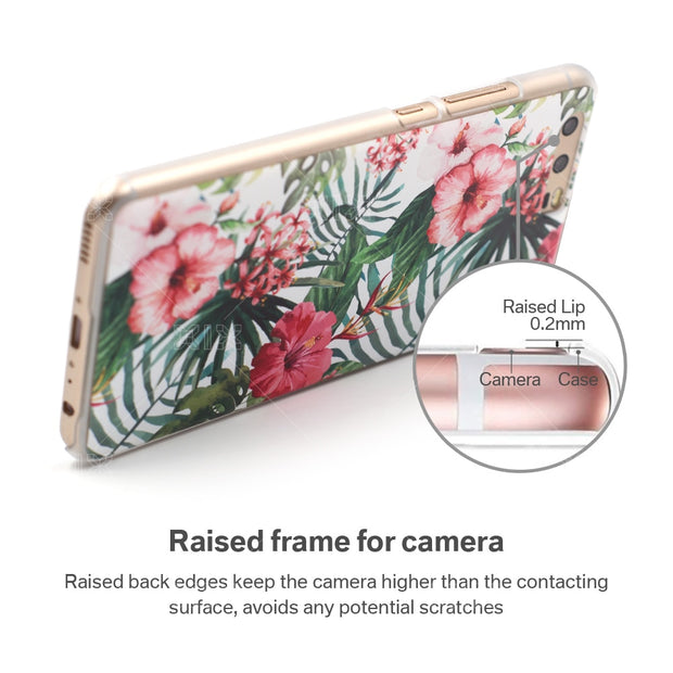 XIX Lifestyle For Huawei P10 Case Pink Flowers Hard Plastic PC Cover For Fundas Huawei P10 New Arrivals For P10 Case