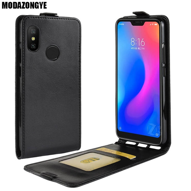 in vendita 409ee 536ae Xiaomi Mi A2 Lite Case Xiaomi MiA2 Lite Case PU Leather Back Cover Phone  Case Xiaomi Mi A2 Lite A2Lite Global Version 5.84 Inch