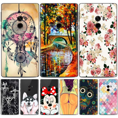 Xiaomi Mi Mix 2 Case Silicon For Xiaomi Mix 2 Case Soft TPU Painted Flower Animal Cartoon Case For Xiaomi Mi Mix 2 Mix2 Cover