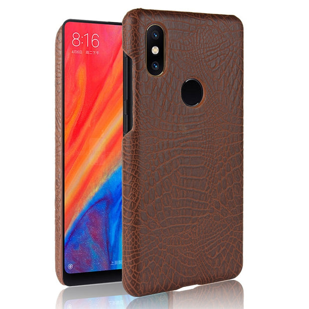 Xiaomi Mi Mix 2S Mix2S Case Crocodile Pattern Hard PC+PU Leather Back Cover Case For Xiaomi Mi Mix 2S Mix2S Cover Protector