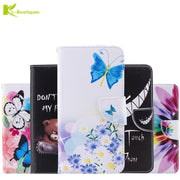 Xiaomi Redmi 4X Phone Etui On For Fundas Xiaomi Redmi 4 X Cartoon Butterfly Case Shockproof Flip Wallet Leather Back Cover Coque