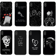 Xxxtentacion Cases For IPhone X XS XR XS MAX LIL PEEP Crybaby Hellboy GBC Rose Back Cover For IPhone 5 5S SE 6 6SPlus 7 8 Plus