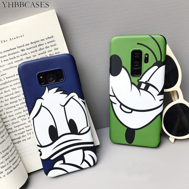 YHBBCASES Couples Phone Cases For Samsung Galaxy S8 S8plus S9 Plus Note 8 Note 9 Case Cute Cartoon Animal Soft IMD Case Cover