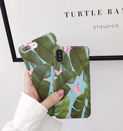 YHCSZ Retro Banana Leaf Flower Patter Hard PC Phone Case For Iphone 6 6s 7 8 Plus X