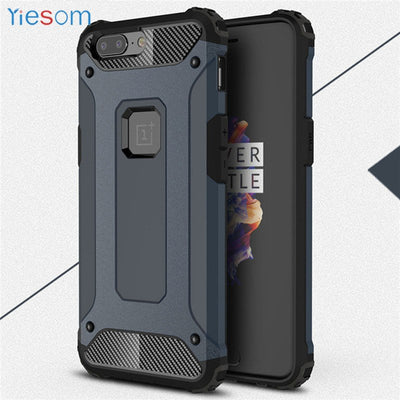 YIESOM For OnePlus 5T A5010 Case Heavy Duty Dual Layer Armor Shockproof Back Cover For OnePlus 5 5T Phone Case For One Plus 5 5T