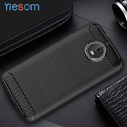 "YIESOM G5S Carbon Fiber Armor Case For Motorola Moto G5S Soft Silicone Phone Cases Back Cover For Moto G5S Case 5.2"" Coque"