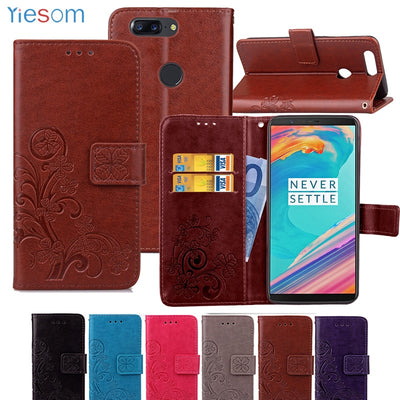 YIESOM Leather Wallet Case For Oneplus 5T A5010 Capa Luxury Flip Stand Coque Phone Bag Cover For Oneplus Five T 5T 1+5 Cover