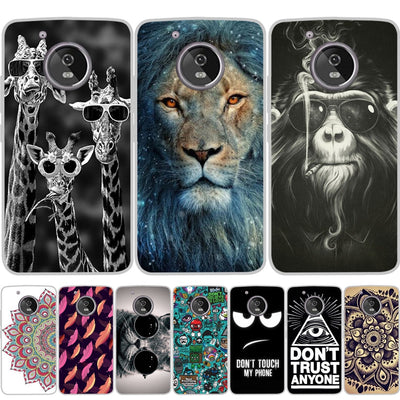 YIKS Case For Moto G5S G6 Plus Case Silicon Flower Cover For Motorola Z2 Play X4 Couqe For Moto G5 G5s E4 Plus Case Shell Fundas