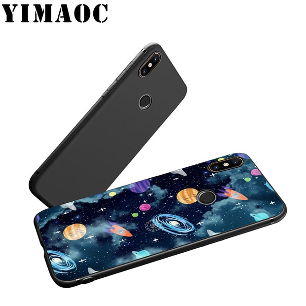 YIMAOC Cute Space The Cat Soft Silicone Case For Xiaomi Redmi Note Mi 8 6 A1 A2 4X 4A 5A 5 Plus MiA1 A2 Pro Lite