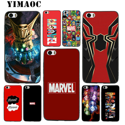 YIMAOC Marvel Superheroes Soft Silicone Case For Xiaomi Redmi Note Mi 8 6 A1 A2 4X 4A 5A 5 Plus MiA1 A2 Pro Lite