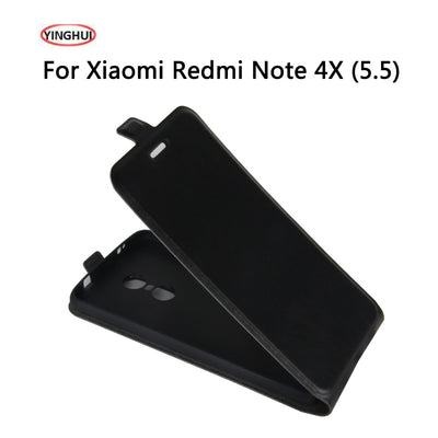 YINGHUI For Xiaomi Redmi Note 4X Case 5.5 Inch Flip Leather Protective Phone Cover Cases Coque For Xiaomi Redmi Note 4X Shell