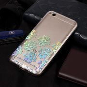 YISHANGOU 3D Colorful Laser Shinning Phone Case For Xiaomi Redmi 5A Soft Silicon Shockproof Cover For Redmi 5A Transaprent Cases