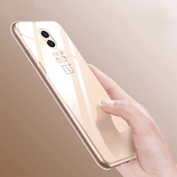YISHANGOU Phone Case For One Plus 6 Cases Transaprent Clear Ultra Slim Back Cover For Oneplus 6 Soft Silicon Scrub Coque Capa