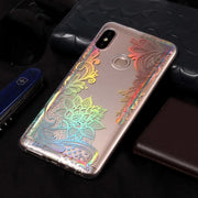 YISHANGOU Phone Case For Xiaomi Redmi Note 5 Pro Coloful Laser Shinning Cover For Redmi Note5 Pro Soft TPU Silicon Clear Cases