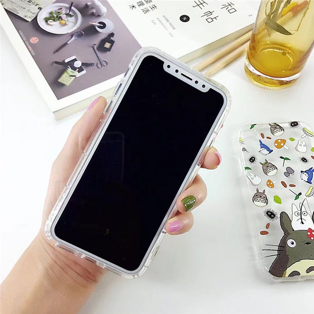 YLungMall Fundas Case For IPhone Xs Max Plus Xr X S R Totoro Phone Case For IPhone 7 6S 6 8 Plus 9 X 5S 5 Se Cover