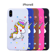 YOKATA Cute Case For Apple IPhone 8 Silicone Case For Unicorn Pattern Soft Back Cover Case For IPhone X Phone Case For Girl
